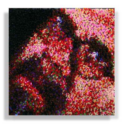 """After Chuck Close..."" by Devorah Sperber, 2002-03"