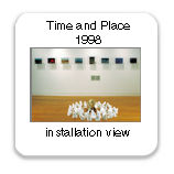 Time and Place, 1998, installation view, hydrocal forms, globe, old clock parts, ciba-clear prints