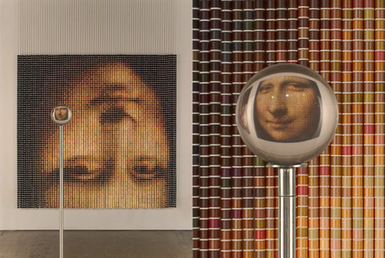 After The Mona Lisa 2, 2005,  by Devorah Sperber, The Eye of The Artist: The Work of Devorah Sperber, at the Brooklyn Museum,  curated by Marilyn Kushner, Brooklyn Museum of Art