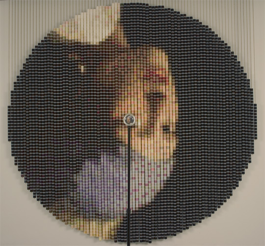 """After Vermeer 2,"" 2006 by Devorah Sperber, based on ""The Girl with a Pearl Earring,""  Installation Artist, New York City"