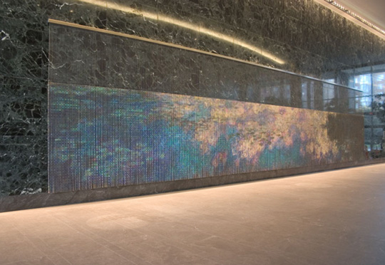 After Monet (Water Lilies), A Site Specific Commission by Devorah Sperber,  Commissioned by Wells Real Estate Funds, Jones Lang LaSalle Bobby, Arlington, Virginia, 2006